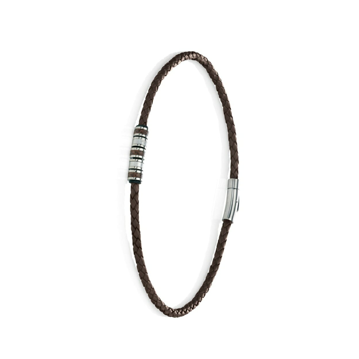 4ecbe49fd59a6 Fred Bennett Men's Brown Leather Necklace with Bead Detail