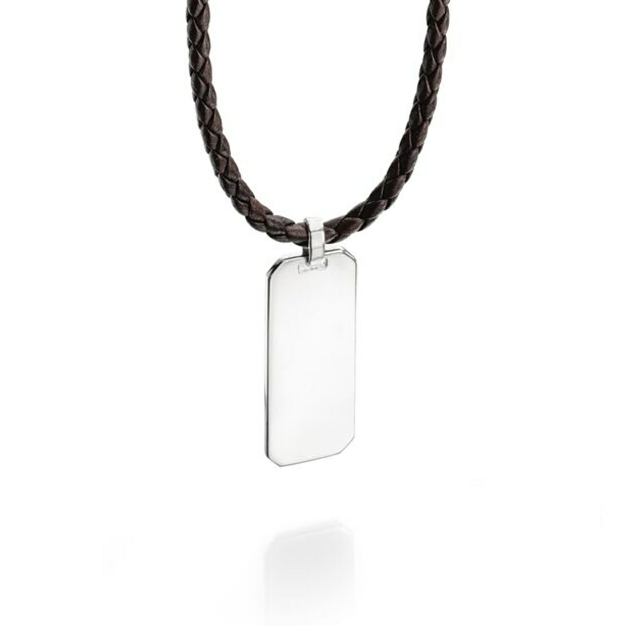 Fred bennett mens leather necklace with silver dog tag pendant fred bennett mens leather necklace with silver dog tag pendant aloadofball Images