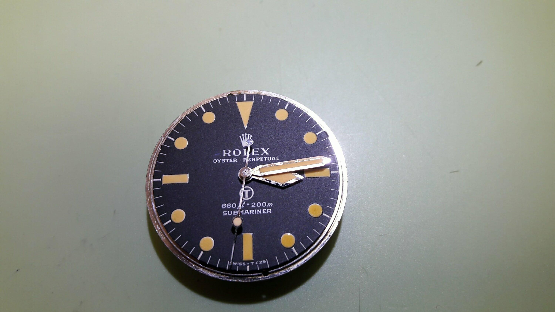Rolex 5513 Milsub Repaire and Service Military Submarinier