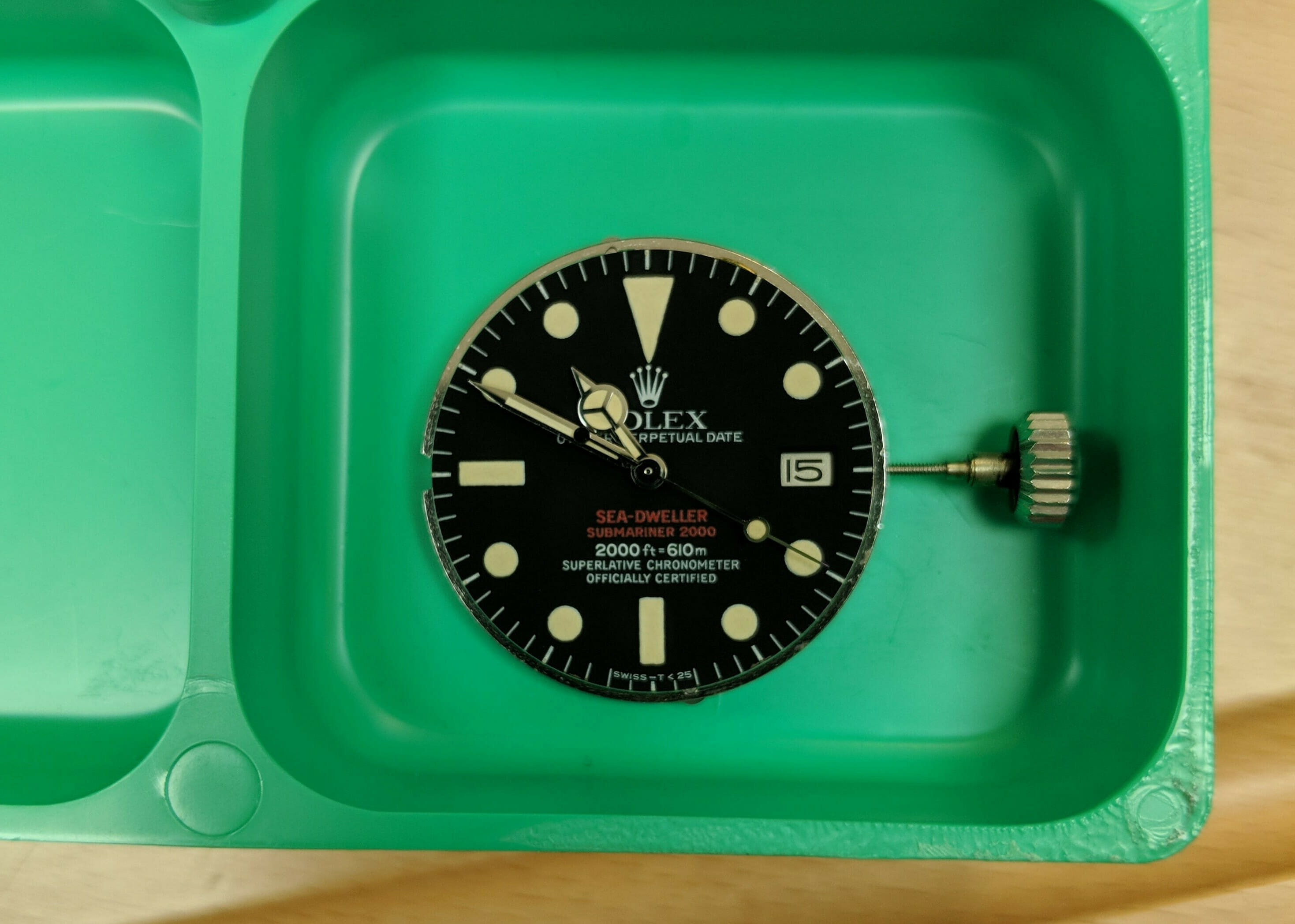 Rolex Sea-Dweller 1665 Double Red - Service and Restoration - Heptinstalls Worthing