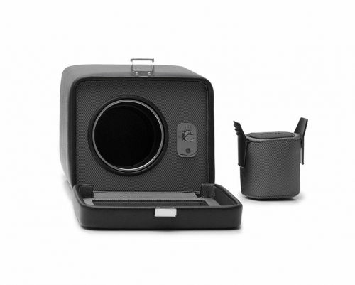 Wolf Single Cub Black Watch Winder With Cover – 4525029