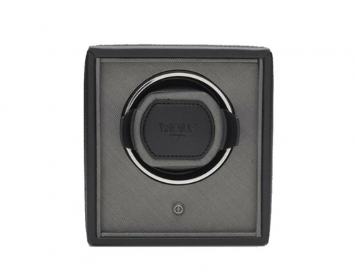 Wolf Single Cub Black Watch Winder - 455203