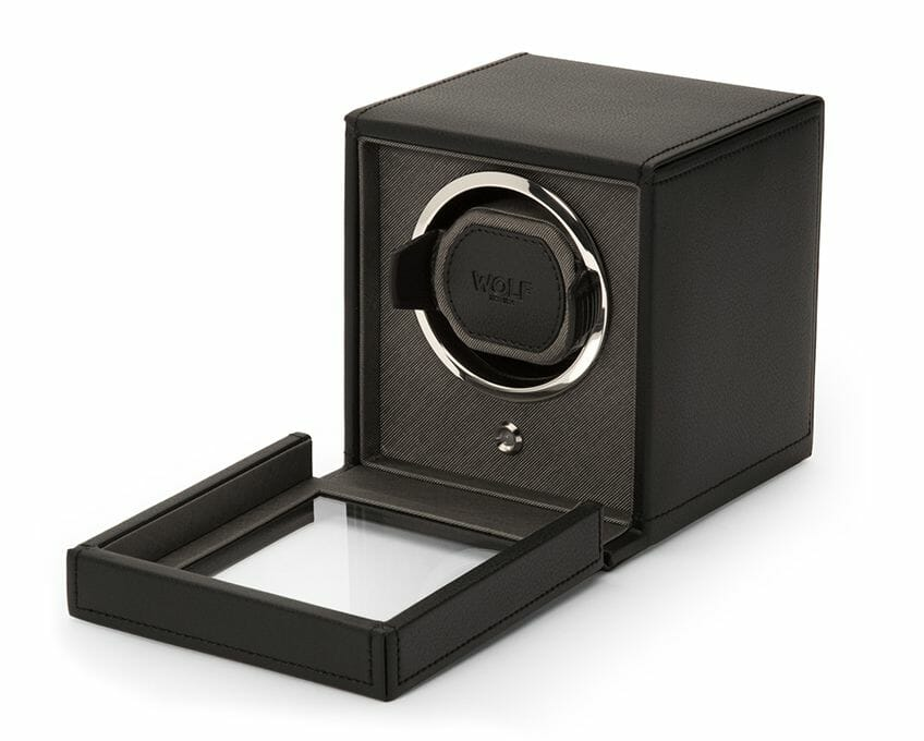 Wolf Single Cub Watch Winder With Cover - 461103