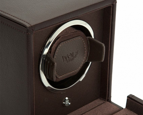 Wolf Single Cub Watch Winder With Cover - 461106