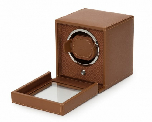Wolf Single Cub Watch Winder With Cover - 461127
