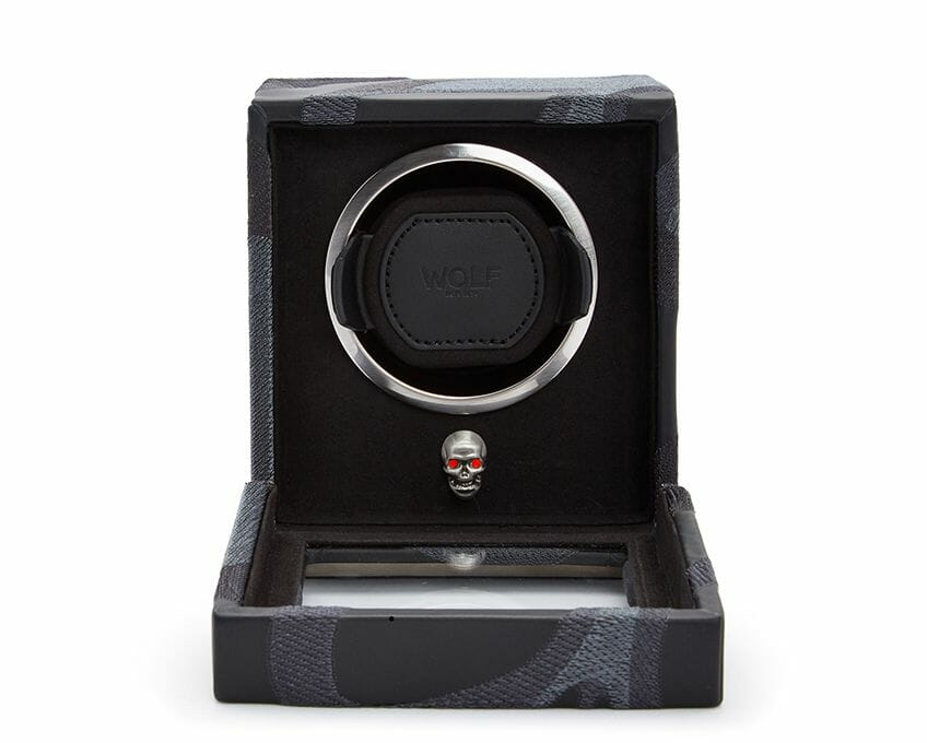 Wolf Single Cub Memento Mori Red Watch Winder - 493102