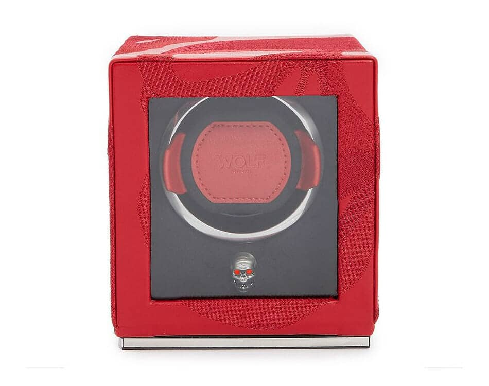 Wolf Single Cub Memento Mori Red Watch Winder - 493172