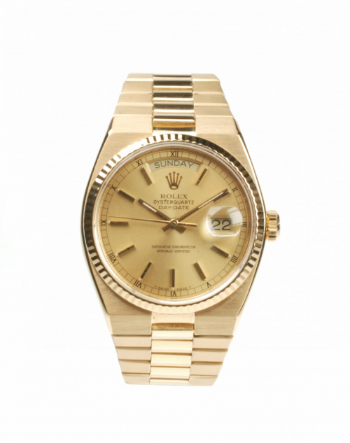 Rolex Oyster Quartz Day Date 19018 From 1978 Pre-Owned Watch
