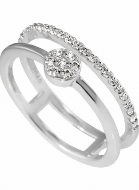 Diamonfire Fine Double Band Ring