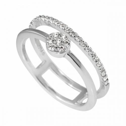 Diamonfire Fine Double Band Ring