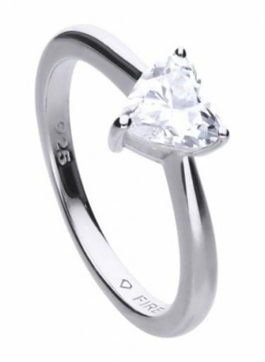 Diamonfire Heart Shape Solitaire Ring