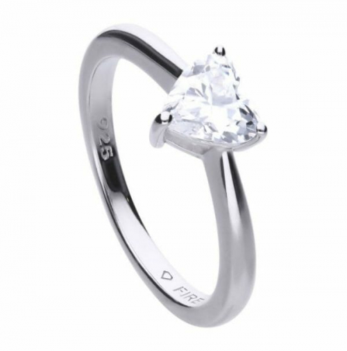 Diamonfire Heart Shape Solitaire Ring