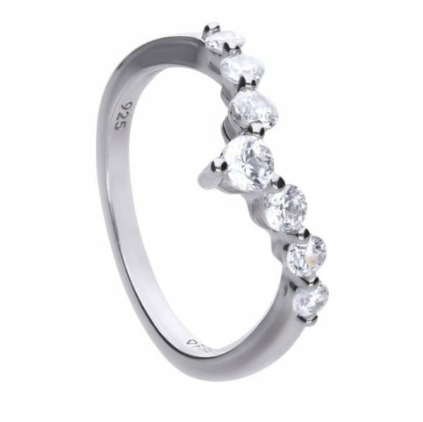 Diamonfire Pave Wishbone Ring