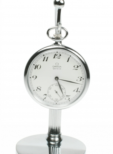 Omega Geneve Chrome Pre-Owned Pocket Watch