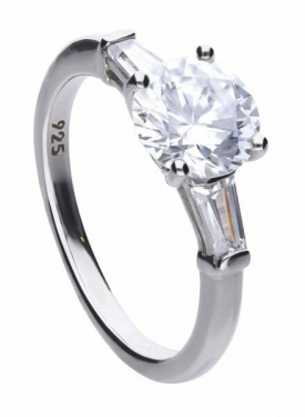 Diamonfire Baguette Trilogy Ring