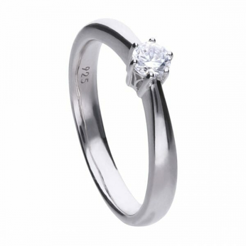 Diamonfire Claw Set 0.25ct Solitaire Ring