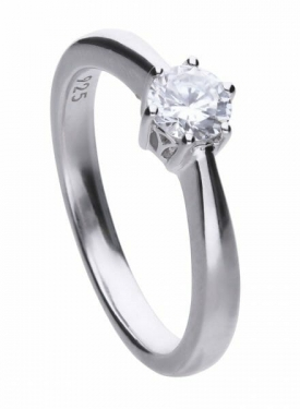 Diamonfire Claw Set 0.50ct Solitaire Ring