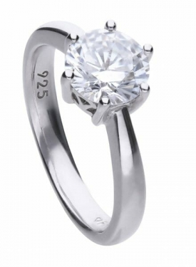Diamonfire Claw Set 2.00ct Solitaire Ring