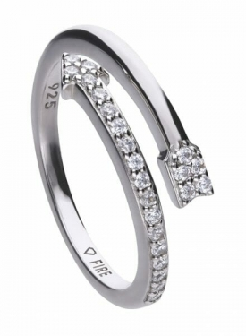 Diamonfire Curved Arrow Ring