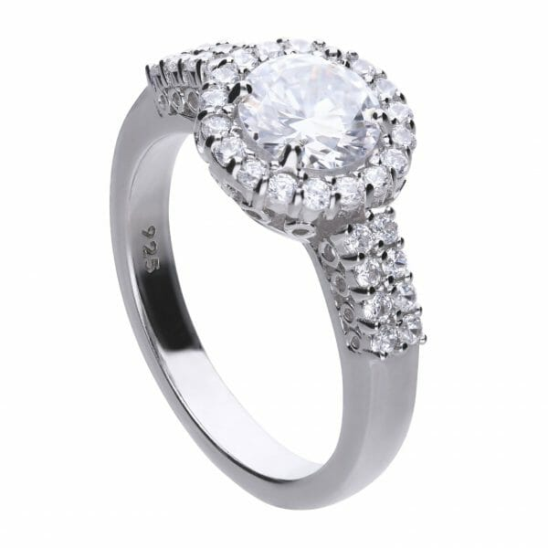 Diamonfire Pave Solitaire Ring