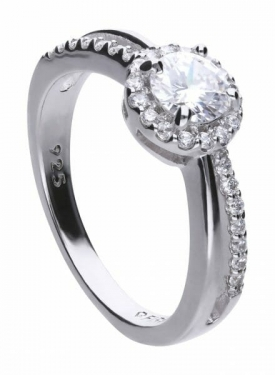 Diamonfire Split Pave Band Cluster Ring