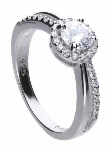 Diamonfire Split Pave Band Cluster Ring