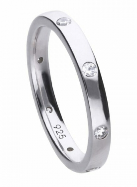 Diamonfire Spaced Stone Set Band