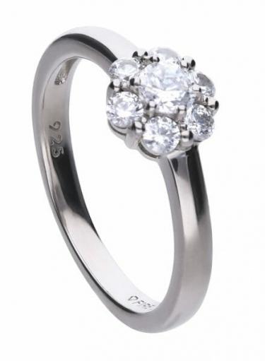 Diamonfire Floral Shape Cluster Ring