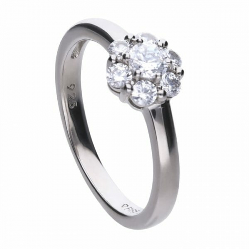 Diamonfire Floral Shape Cluster Ring
