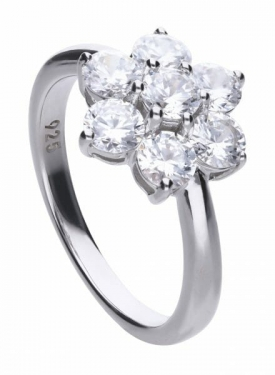 Diamonfire Flower Cluster Ring