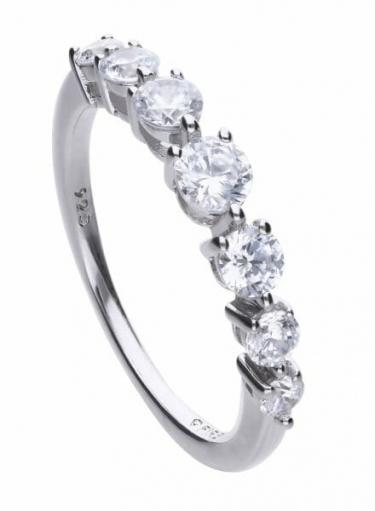 Diamonfire Half Eternity Ring