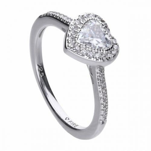 Diamonfire Pave Heart Shape Ring