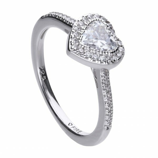 Diamonfire Pave Heart Shape Ring