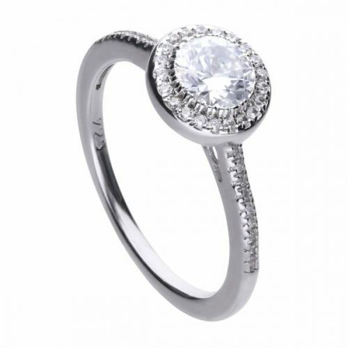 Diamonfire Round Pave Halo Ring