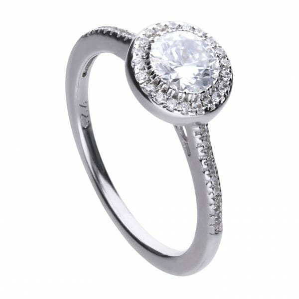 Diamonfire Round Pave Halo Ring