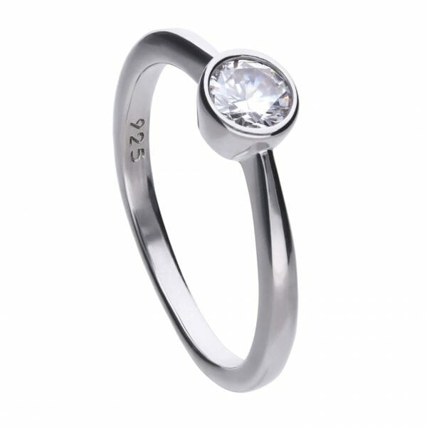 Diamonfire Bezel Set 0.50ct Solitaire Ring