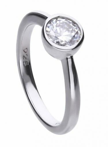 Diamonfire Bezel Set 1.00ct Solitaire Ring