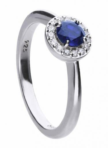 Diamonfire Blue Sapphire Coloured Cluster Ring