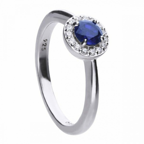 Diamonfire Blue Sapphire Coloured Cluster Ring