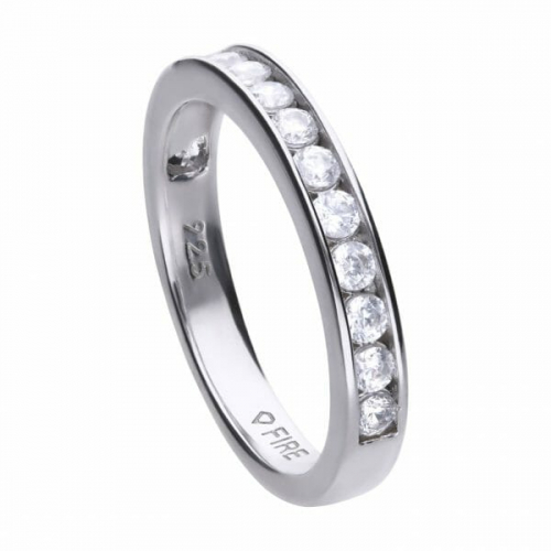 Diamonfire Channel Bezel Set Ring