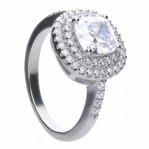 Diamonfire Double Halo Zirconia Ring