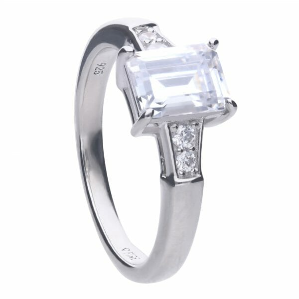 Diamonfire Emerald Cut Zirconia Ring