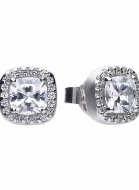 Diamonfire Square Cluster Stud Earrings