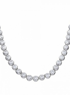 Diamonfire Bezel Set Tennis Necklace