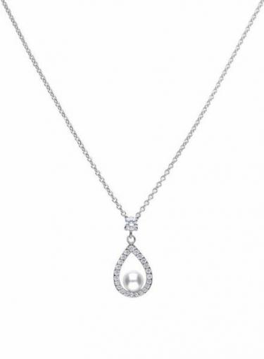 Diamonfire Teardrop Pearl Necklace
