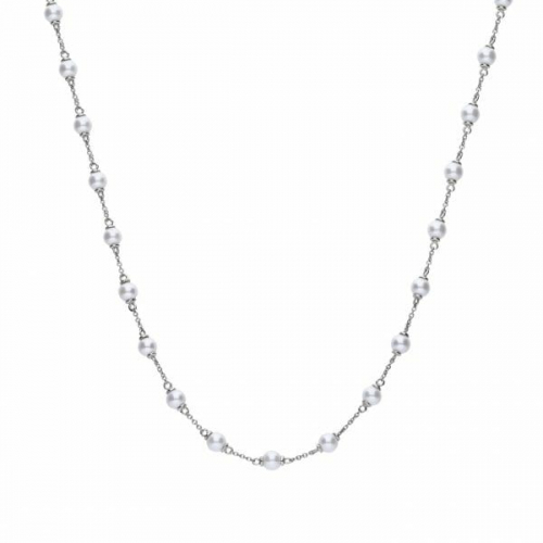Diamonfire White Shell Pearl Necklace
