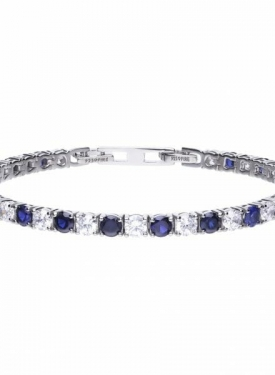 Diamonfire Blue Sapphire Coloured Tennis Bracelet