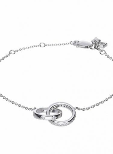 Diamonfire Interlocking Rings Bracelet