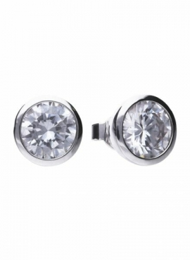Diamonfire Bezel Set 4.00ct Stud Earrings