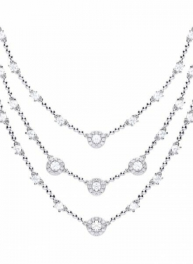 Diamonfire Multi Strand Cocktail Drop Necklace